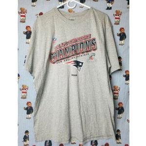 Retro NEW ENGLAND PATRIOTS Mens XXL Reebok T-Shirt